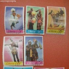 Sellos: SELLO R. LIBERIA MTDOS (+/- S. BISAGRA)/1967/MUSICA/INSTRUMENTOS/FOLCLORE/CONSTRUMBRES/XILOFONO/ARPA. Lote 254515035
