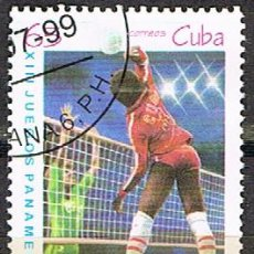 Sellos: CUBA Nº 4228, VOLEYBALL, JUEGOS PANAMERICANOS USADO. Lote 254799690