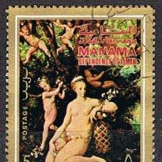 Sellos: MANAMA (EMIRATOS ARABES UNIDOS), MASTER DU FLORA: EL TRIUNFO DE FLORA, USADO. Lote 255440060