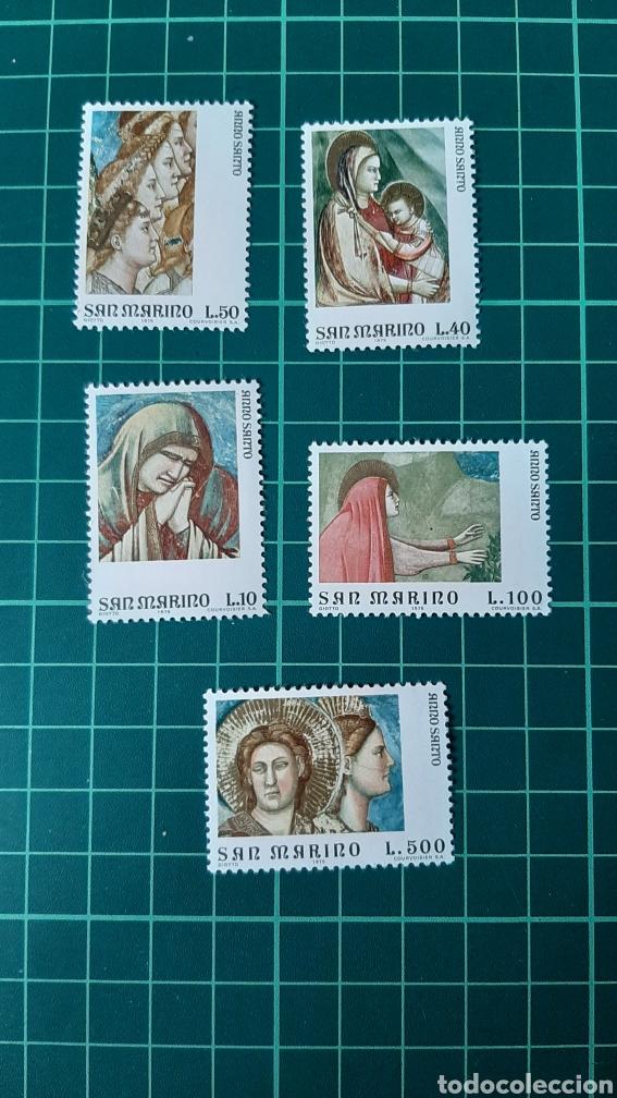 1975 SAN MARINO SERIE COMPLETA NUEVA YVERT 893/7 ARTE PINTURA VIRGEN RELIGIÓN (Sellos - Temáticas - Arte)