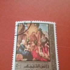 Sellos: SELLO RAS AL KHAIMA MTDO (E.A.U)/1971/500ANIV/NACIMIENTO/ALBRECHT/DURER/SRYE/PINTOR/CUADRO/RELIGION/. Lote 262057235