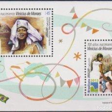 Sellos: ⚡ DISCOUNT URUGUAY 2013 THE 100TH ANNIVERSARY OF THE BIRTH OF VINICIUS DE MORAES MNH - POETS. Lote 262873705