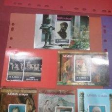 Sellos: HB (6) AJMAN (E.A.U) MTDA/1972/ARTE/FRESCOS/CUADRO/PINTIRA/VIDA/POMPEYA/ESCULTURA/TESOROS/ROMA/ARTE/. Lote 262940395
