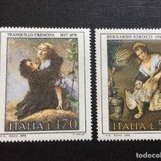 Sellos: ITALIA Nº YVERT 1353/4*** AÑO 1978. PINTURA. CUADROS DE T. CREMONA Y B. STROZZI. Lote 264828739