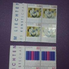 Sellos: SELLO P. LIECHTENSTEIN NUEVO/1993/EUROPA/CEPT/ARTE/MODERNO/CONTEMPORANEO/DIBUJOS/AZUL/CUADROS/PINTUR. Lote 266767948