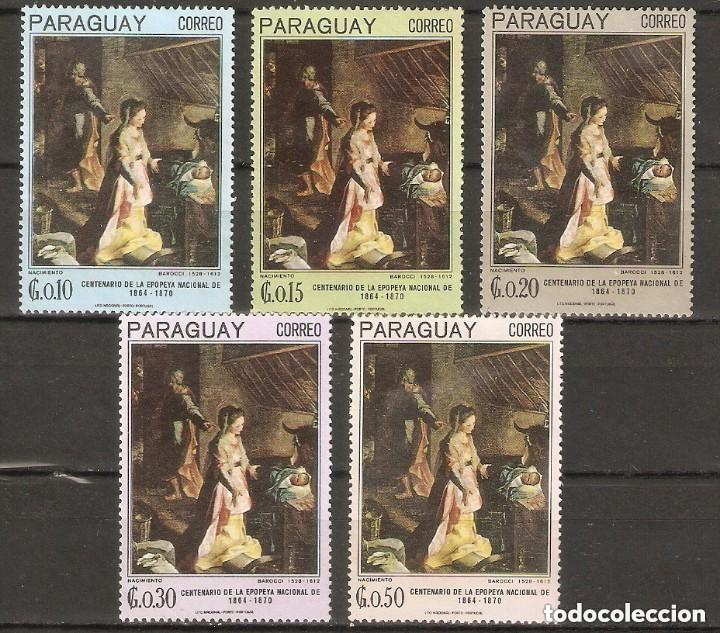PARAGUAY. 1967. PINTURAS. MI 1700/1704. ARTE (Sellos - Temáticas - Arte)