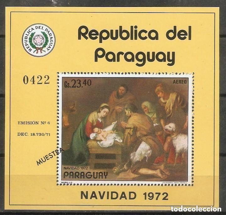 """PARAGUAY. 1972. """"MUESTRA"""". NAVIDAD. MURILLO. ARTE. PINTURA. (Sellos - Temáticas - Arte)"""