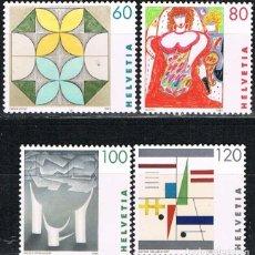 Sellos: SUIZA, IVERT 1435/8, OBRAS DE PINTORAS SUIZAS, NUEVO (SERIE COMPLETA). Lote 269269443