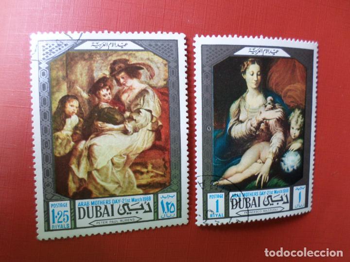 *ARABIA SUDESTE, DUBAI, DIA DE LA MADRE 1969 (Sellos - Temáticas - Arte)