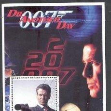 Sellos: CONGO 2003 HOJA BLOQUE SELLOS JAMES BOND AGENTE 007- PIERCE BROSMAN. Lote 270577828