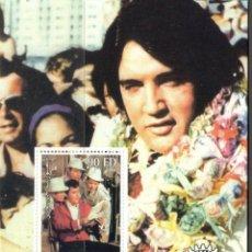 Sellos: DJIBOUTI 2004 HOJA BLOQUE DE SELLOS LEYENDAS DE LA MUSICA- EL REY DEL ROCK: ELVIS PRESLEY. Lote 270578813
