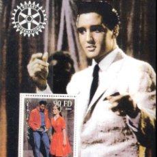 Sellos: DJIBOUTI 2004 HOJA BLOQUE DE SELLOS LEYENDAS DE LA MUSICA- EL REY DEL ROCK: ELVIS PRESLEY. Lote 270578878