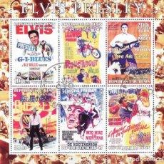 Sellos: BENIN 2003 HOJA BLOQUE DE SELLOS LEYENDAS DE LA MUSICA- EL REY DEL ROCK: ELVIS PRESLEY - PELICULAS. Lote 270579363