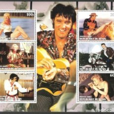 Sellos: BENIN 2003 HOJA BLOQUE DE SELLOS MUSICA- EL REY DEL ROCK: ELVIS PRESLEY - MARILYN MONROE. Lote 270579473