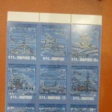 Selos: HB (BLQ 3X3) ALBANIA MTDO/1990/2400ANIV/FUNDACION/BERAT/ARTE/ARQUITECTURA/RELIGION/PINTURA/CATEDRAL/. Lote 274900263