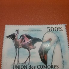 Sellos: SELLO COMORAS (I. COMORES) NUEVOS/2011/AVES/ACUATICAS/FLAMENCO/PAJARO/ANIAML/LEER REGALO DESCRIPCION. Lote 276813068