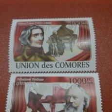 Sellos: SELLO COMORAS (I. COMORES) NUEVO/2008/COMPOSITORES/ARTE/PIANO/INSTRUMENTOS/MU/LEER REGALO DESCRIPCI. Lote 276959528