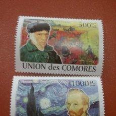 Sellos: SELLO COMORAS (I. COMORES) NUEVO/2008/VICENT/VAN/GOGH/ARTE/PINTURA/CUADROS/RETRATO/LEER DESCRPCION R. Lote 277063658