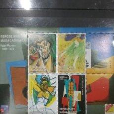 Sellos: HB MADAGASCAR (MADAGASIKARA) NUEVA/1999/ARTE/PINTURA/ESCULTURAS/ARTISTA/PABLO/PICASO/MUJERES/ABSTRAC. Lote 277647163