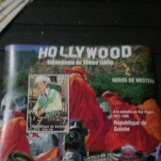 Sellos: HB R. GUINEA NUEVA/1998/HEROES/PAPA/PABLOII/INDIOS/TALLA/CANTANTE/ARTE/ROY/ROGERS/LEER DESCRIPCIÓN R. Lote 278499203