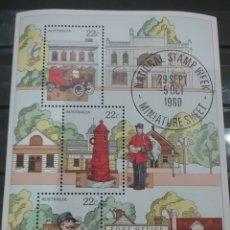 Sellos: HB AUSTRALIA MTDOS/1980/DIA/SELLO/NACIONAL/CARTERO/BUZON/CAMION/TRANSPORTE/ARBOLES/FLORA/UNIFORME/OF. Lote 278806808