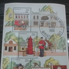 Sellos: HB AUSTRALIA MTDOS/1980/DIA/SELLO/NACIONAL/CARTERO/BUZON/CAMION/TRANSPORTE/ARBOLES/FLORA/UNIFORME/OF. Lote 278806883