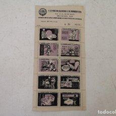 Timbres: 1958, SERIE COMPLETA DE SELLOS EN PLIEGO, EXPOSICIÓN FILATÉLICA Y NUMISMÁTICA, CARTELES Y FERIAS. Lote 287160963