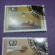 Sellos: SELLO NACIONES UNIDAS (VIENA) MTDOS /1995/CUMBRE/DESARROLLO/SOCIAL/ARTE/PINTURA/CUADRO/GENTE/CUBOS. Lote 287781488