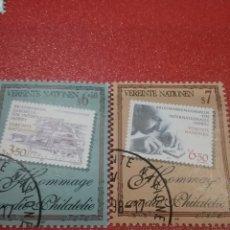 Sellos: SELLO NACIONES UNIDAS (VIENA) MTDO/1997/HOMENAJE/FILATELIA/SELLOS/LUPA/COLECCIONISMO/OCIO/ARTE. Lote 287913368