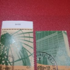 Sellos: SELLO NACIONES UNIDAS (VIENA) MTDO/2000/55ANIV/FUNDACION/NN.UU/EDIFICIO/ARQUITECTURA/GENTE/SEDE/ARTE. Lote 287946968
