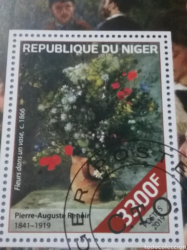 Sellos: HB (2) R. Niger mtdas/2019/pinturas/Auguste/Renoir/cuadros/arte/flores/ramo/trajes/bailes/niña/noble - Foto 3 - 287960893