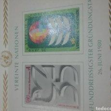 Sellos: SELLO NACIONES UNIDAS (VIENA) NUEVOS/1980/35ANIV/NACIONES/UNIDAS/PALOMA/AVE/PAJARO/GLOBO/SIMBOLO/ANI. Lote 288068723