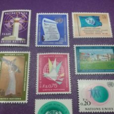 Sellos: SELLO NACIONES UNIDAS (GINEBRA) NUEVOS/1969/SERIE/GENERAL/SEDE/BAMDERA/GENTE/AVE/PAJARO/ARQUITECTURA. Lote 288087028
