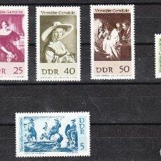 Sellos: ALEMANIA / RDA / DDR 1967 - PINTURAS PERDIDAS, S.COMPLETA - SELLOS NUEVOS **. Lote 288371253