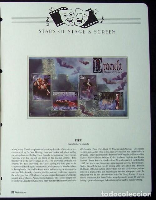 EIRE HOJA BLOQUE DE SELLOS DE LA PELÍCULA BRAM STOKER´S DRACULA - CINE DE TERROR- VAMPIRO (Sellos - Temáticas - Arte)