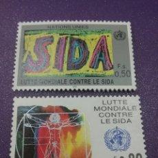 Sellos: SELLO NACIONES UNIDAS (GINEBRA) NUEVOS/1990/LUCHA/CONTRA/DROGA/VITRUVIO/LEONARDO/VINCI/DIBUJO. Lote 288720983