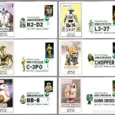 Sellos: DROIDES DE STAR WARS - JUEGO 10 FDCS. NICASIO CA, ESTADOS UNIDOS, 2021. Lote 288868383