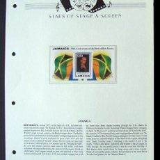 Sellos: JAMAICA HOJA BLOQUE DE SELLOS DEL FAMOSO CANTANTE Y COMPOSITOR JAMAIQUINO BOB MARLEY. Lote 288946048