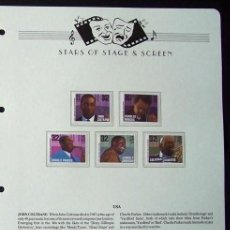 Sellos: EEUU- USA- SELLOS DE LOS GRANDES DEL BLUES - JOHN COLTRANE- CHARLES MINGUS- CHARLIE PARKER- HAWKINS. Lote 288949438