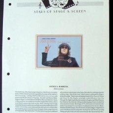 Sellos: ANTIGUA BARBUDA HOJA BLOQUE DE SELLOS CONMEMORATIVOS THE BEATLES JOHN LENNON - LEYENDAS DEL ROCK. Lote 288951188