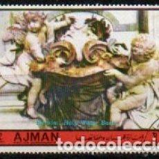 Sellos: AJMAN (EMIRATOS ARABES UNIDOS), 2049, BDERNINI: PILA DE AGUA BENDITA, USADO. Lote 289428423