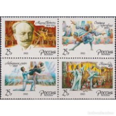 Sellos: ⚡ DISCOUNT RUSSIA 1993 THE 175TH BIRTH ANNIVERSARY OF M.PETIPA MNH - BALLET. Lote 289988013