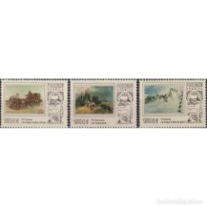 Sellos: ⚡ DISCOUNT RUSSIA 1996 POST TROIKAS IN PAINTINGS MNH - PAINTINGS, PAINTING, HORSES. Lote 289988673