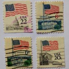 Sellos: EEUU USA LOTE SELLOS TEMATICA BANDERAS. Lote 295475373
