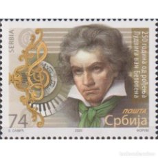Sellos: ⚡ DISCOUNT SERBIA 2020 THE 250TH ANNIVERSARY OF THE BIRTH OF LUDWIG VAN BEETHOVEN, 1770-1827. Lote 296065163