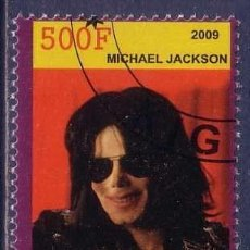 Sellos: RUANDA 2009 SELLO DEL FAMOSO MUSICO MICHAEL JACKSON EL REY DEL POP. Lote 297280658