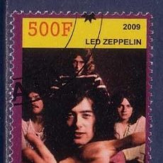 Sellos: RUANDA 2009 SELLO DELFAMOS0 GRUPO DE MUSICA LED ZEPPELIN. Lote 297280903