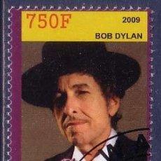 Sellos: RUANDA 2009 SELLO DE BOB DYLAN. Lote 297281923