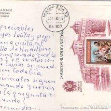 Sellos: EDIFIL 3012, LA SAGRADA FAMILIA DE EL GRECO, SOBRE CIRCULADO CON MATASELLO DE MANHEIM (ALEMANIA). Lote 297307153