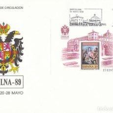 Sellos: EDIFIL 3012, LA SAGRADA FAMILIA DE EL GRECO, EXFILNA'89 EN TOLEDO, PRIMER DIA DE 20-5-1989 SFC. Lote 297314973
